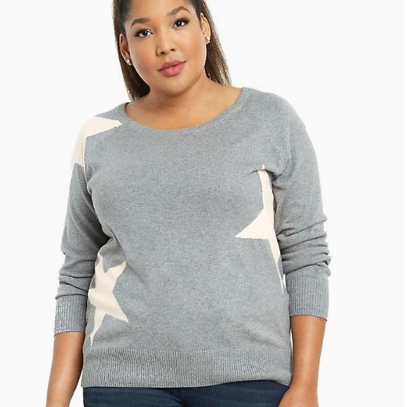 449b8585ebc torrid Sweaters | Gray Pink Star Print Sweater | Poshmark